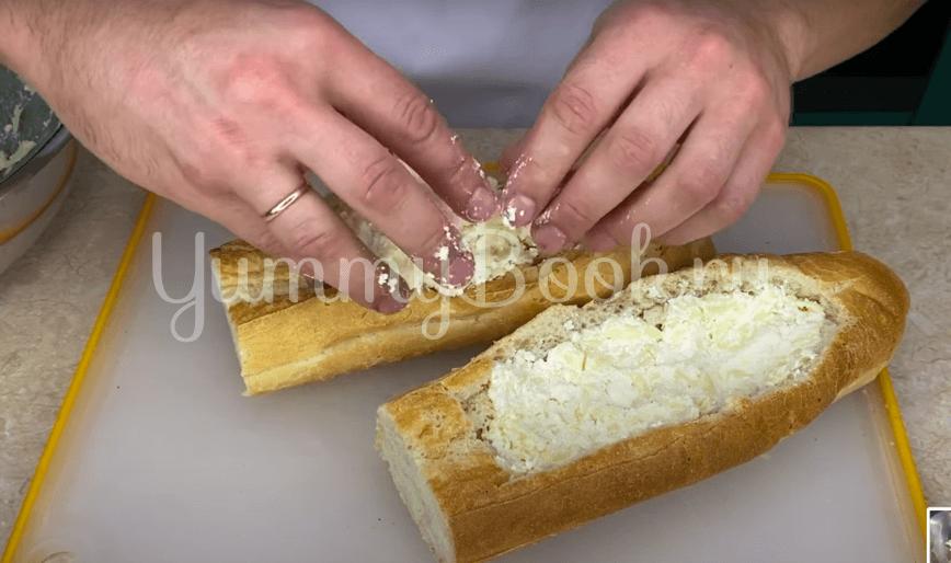 Ленивые хачапури из багета в духовке  - шаг 3