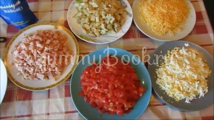 Слоеный салат «Синьор Помидор» - шаг 2