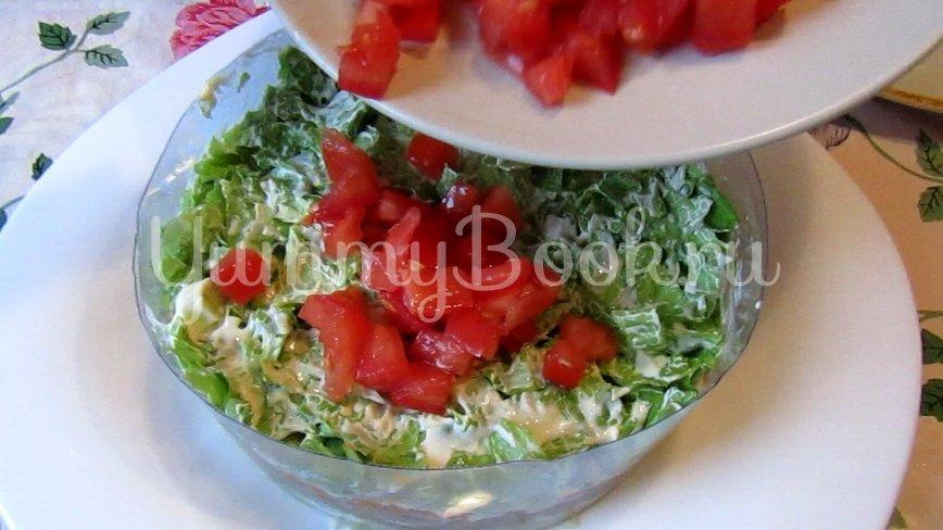 Слоеный салат с тунцом - шаг 3