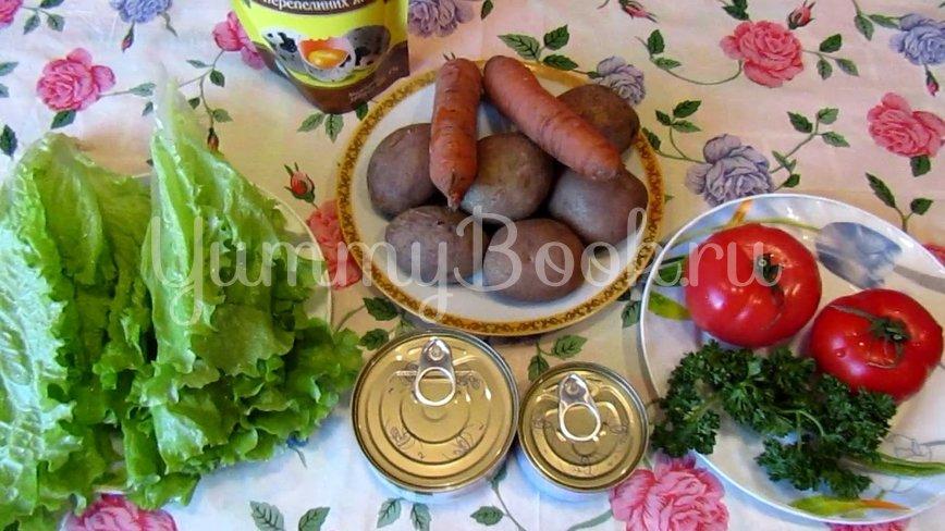Слоеный салат с тунцом - шаг 1