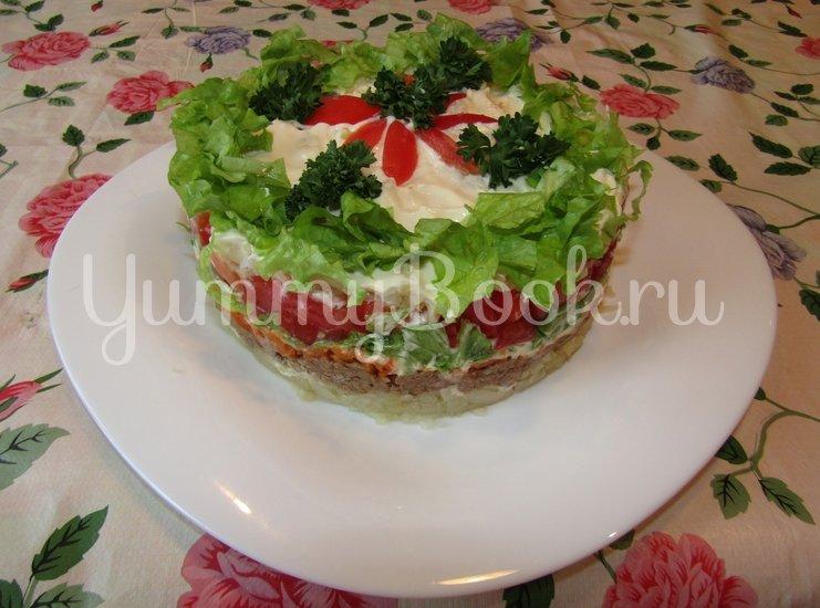 Слоеный салат с тунцом - шаг 4
