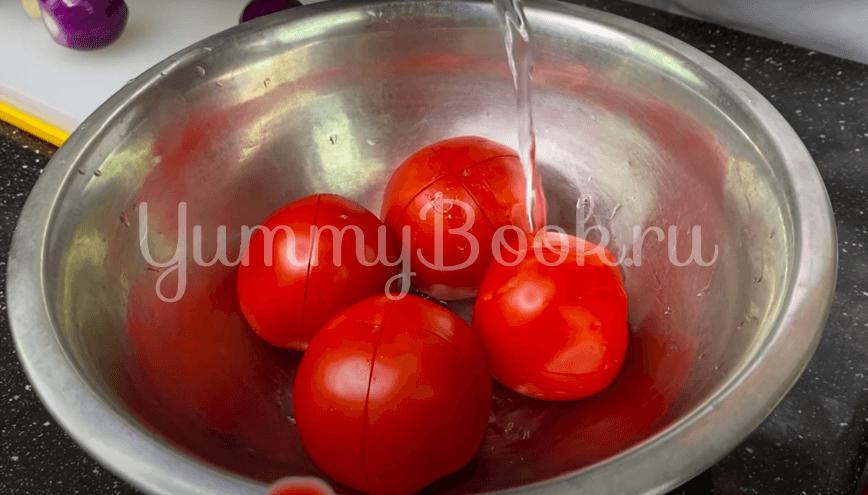 Итальянский томатный суп с сухариками  - шаг 1