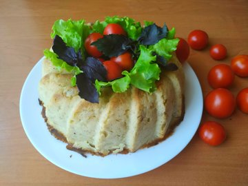 Картофельная бабка с беконом