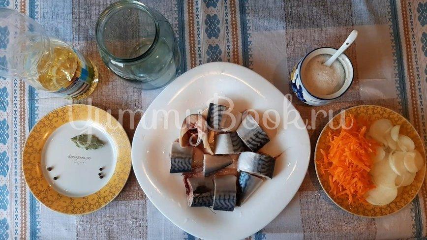 Скумбрия с овощами в банке в духовке - шаг 2