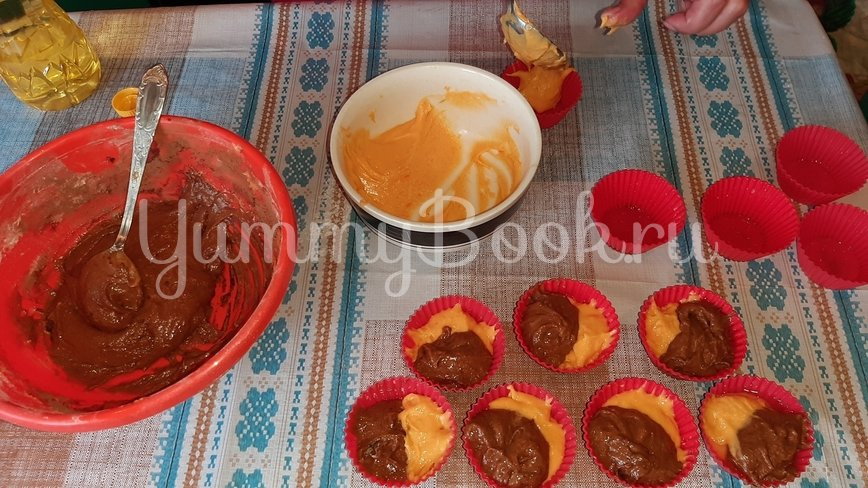 Тыквенно-шоколадные кексы - шаг 2