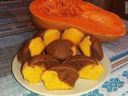 Тыквенно-шоколадные кексы