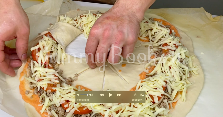 Дрожжевой пирог с мясом - шаг 4