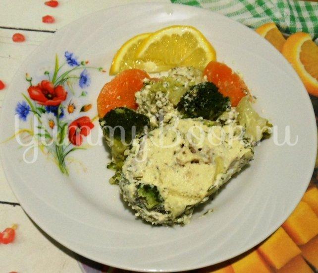 Хек в сметанно-майонезной заливке с овощами, запечённый в духовке - шаг 13