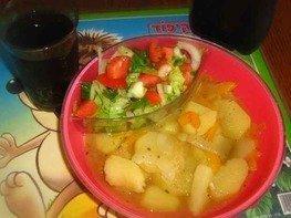Картофель тушеный с перцем