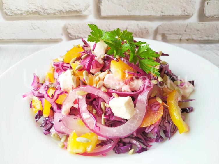 Салат из краснокочанной капусты с сыром фета - шаг 6