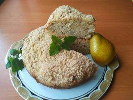Пирог на кефире к чаю (с осенними грушами)