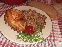 Гречка с куриными бёдрами в духовке