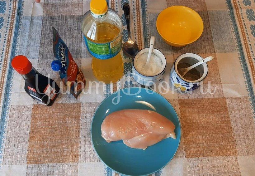 Куриное филе, запеченное в двух соусах в духовке - шаг 1
