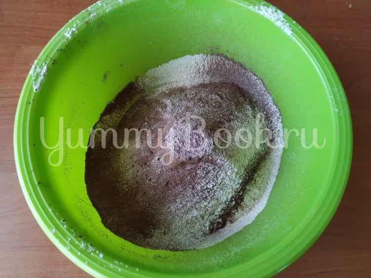 Постный шоколадный брауни с вишней  - шаг 1