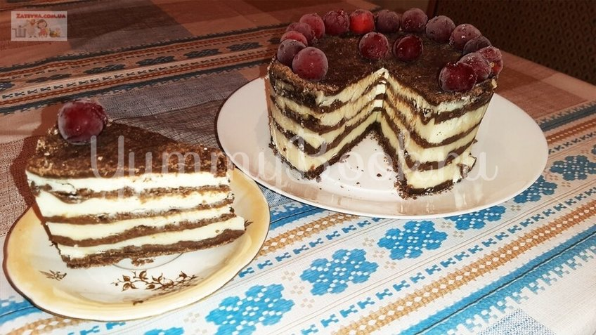 Шоколадно-творожный торт «Лентяй» - шаг 4