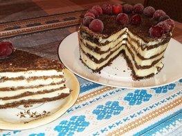 Шоколадно-творожный торт «Лентяй»