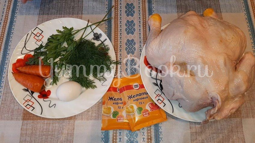 Заливное из курицы - шаг 1