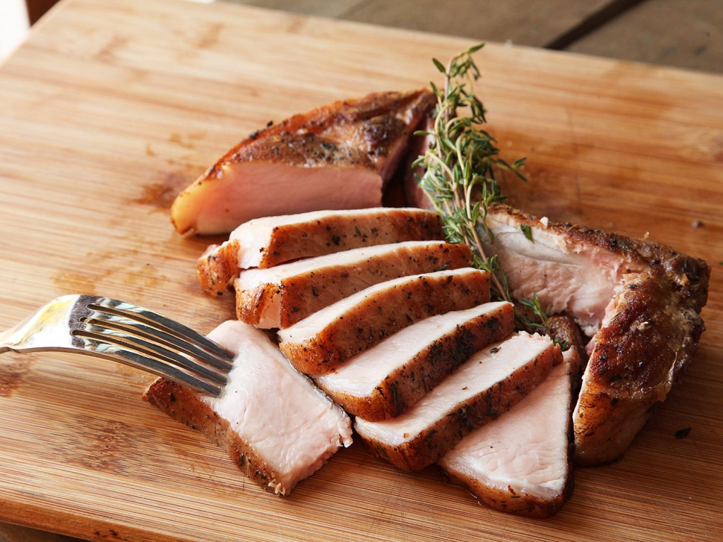 еда из свинины