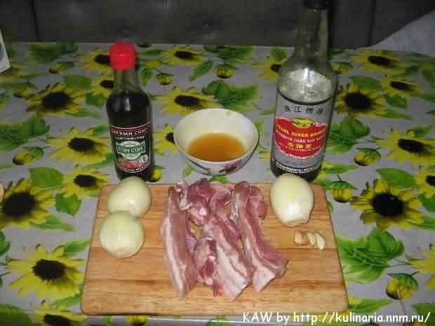 Ребра свиные с соевым соусом