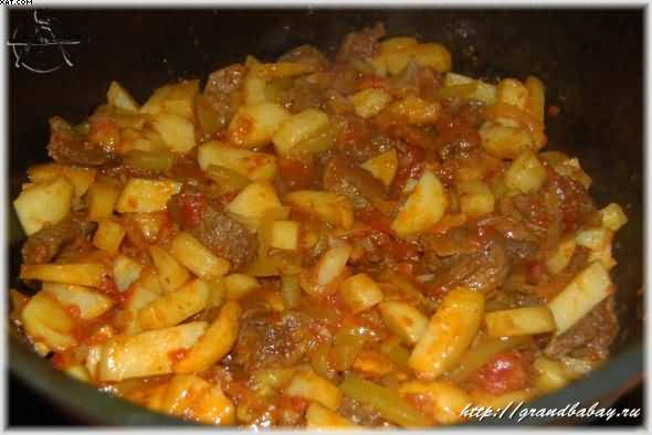 "Азу ""почти по-татарски"" – кулинарный рецепт"