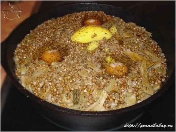 Гречневая каша с белыми грибами - простой и вкусный рецепт с пошаговыми фото