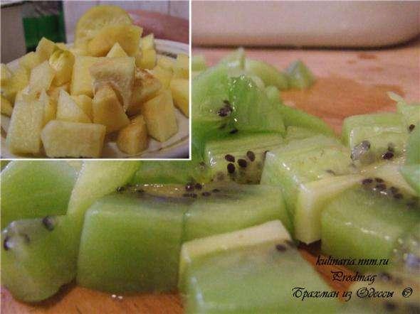 Свинина с фруктами и конфитюром из киви – кулинарный рецепт