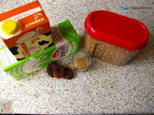 Нектарины в карамельном соусе с овсяной кашей, пошаговый рецепт с фото