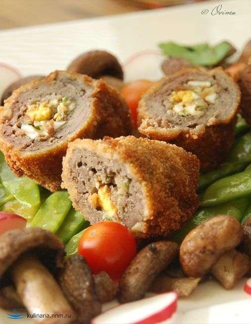 Крученики из печени – кулинарный рецепт