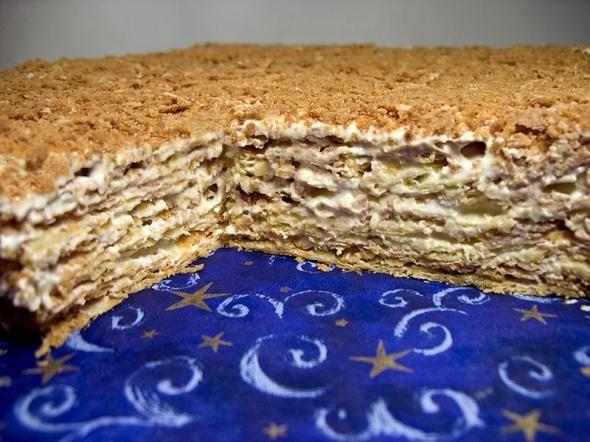 Торт наполеон с вареной сгущенкой рецепт с фото