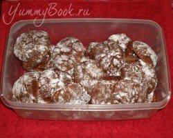 Шоколадное печенье Трещинки - шаг 5