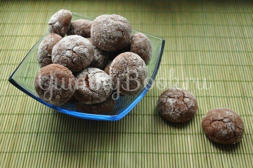Рецепт Шоколадное печенье Трещинки