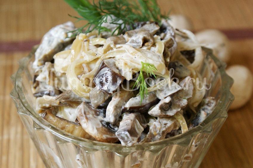 Рецепт Баклажанно-грибной салат