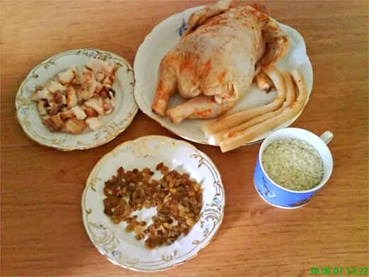 Курица фаршированная, пошаговый рецепт с фото