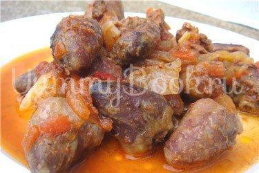 Рецепт Куриные потрошки по-болгарски