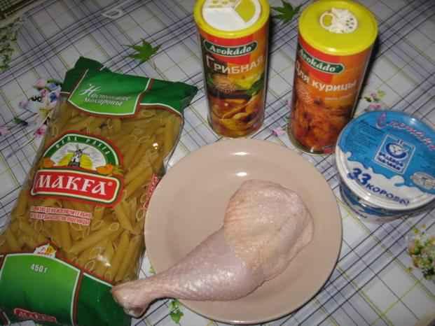 макароны в духовке с курицей рецепт с фото пошагово