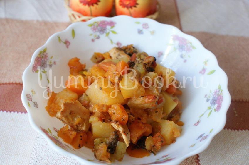 Рецепт Овощное рагу с мясом в мультиварке