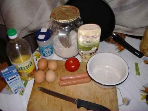 Омлет с рисом, пошаговый рецепт с фото