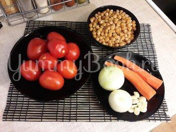 Томатный нут с овощами - шаг 1