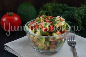 Салат с авокадо и помидором - шаг 5